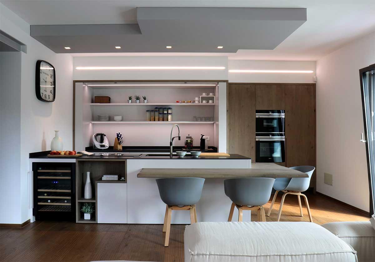 cucina su misura realizzata con metodo 3p(zero) da Ceccato Arredamenti ambienti di carattere