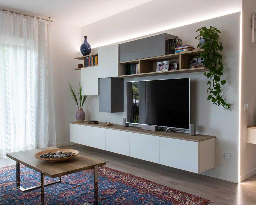 mobile soggiorno porta tv su misura arredamenti ceccato